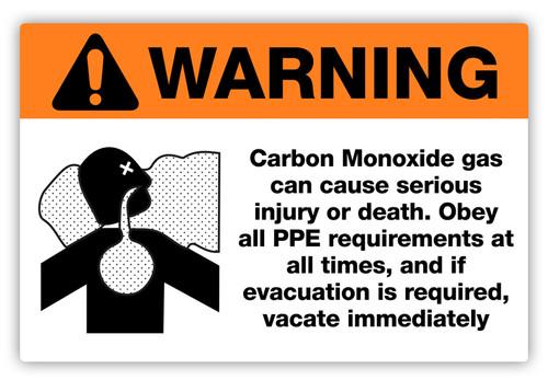 Warning - Carbon Monoxide Label