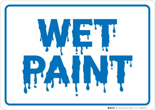 Wet Paint Landscape - Wall Sign