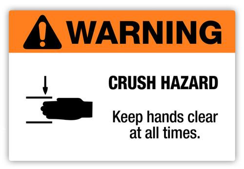 Warning - Crush Hazard Label