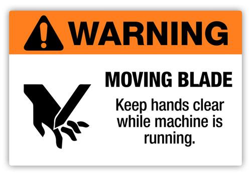 Warning - Moving Blade Label