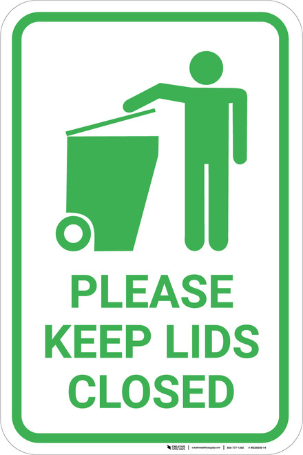 Please Keep Lids Closed with Icon Portrait - Wall Sign
