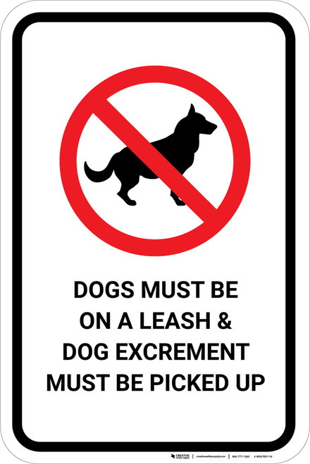 Dogs and Owner Guidelines Portrait - Wall Sign
