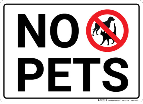 No Pets with Icon Landscape - Wall Sign