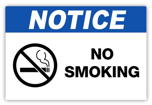Notice - No Smoking Label