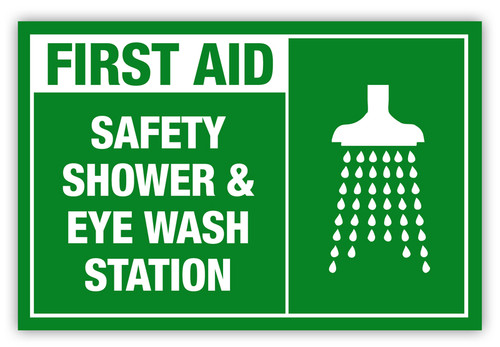 Safety Shower and Eye Wash Label