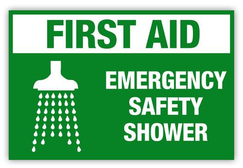 Emergency Safety Shower Label