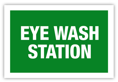 Eye Wash Station Label