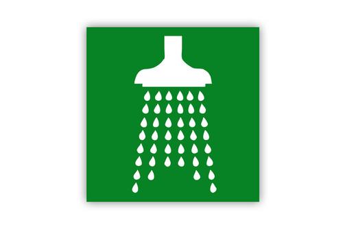Safety Shower Symbol Label