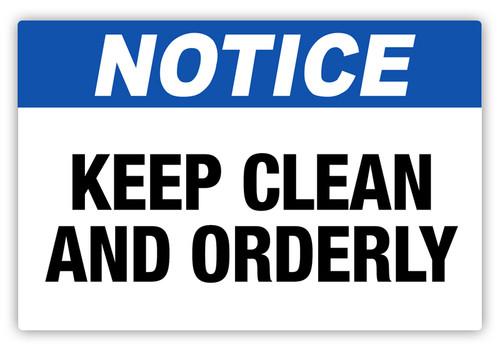 Notice - Keep Clean Label