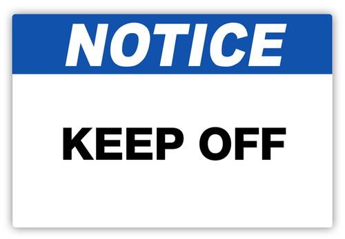 Notice - Keep Off Label