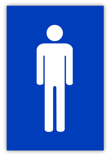 Men S Restroom Label Creative Safety Supply