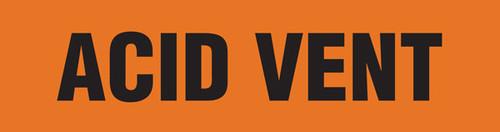 Acid Vent Pipe Marking Wrap (Orange/Black)