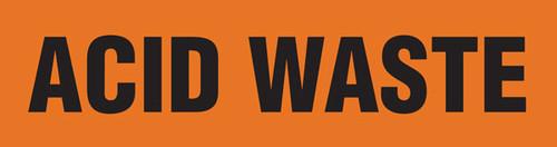 Acid Waste Pipe Marking Wrap (Orange/Black)