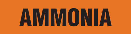 Ammonia Pipe Marking Wrap (Orange/Black)