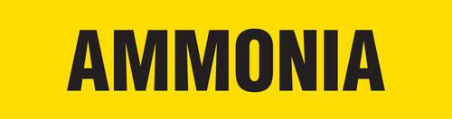 Ammonia Pipe Marking Wrap (Yellow/Black)
