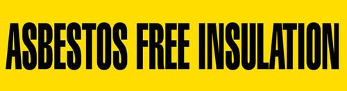 Asbestos Free Ins Pipe Marking Wrap (Yellow/Black)