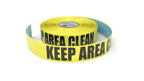 Keep Area Clean - Inline Printed Floor Marking Tape