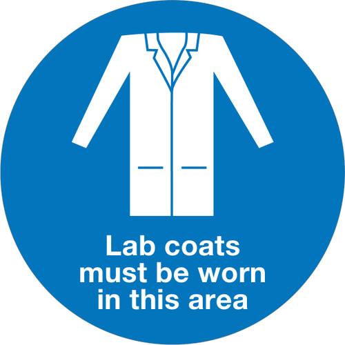 Lab Coats Must Be Worn - Floor Sign