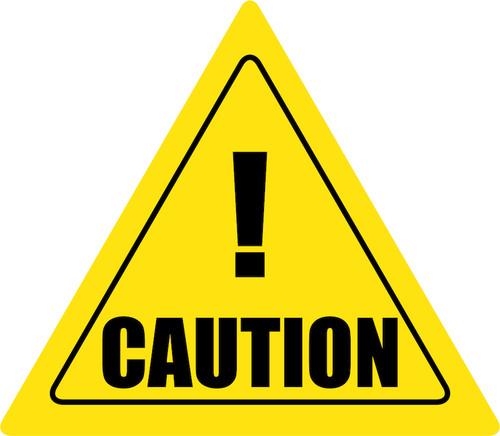 Caution Yield Floor Sign