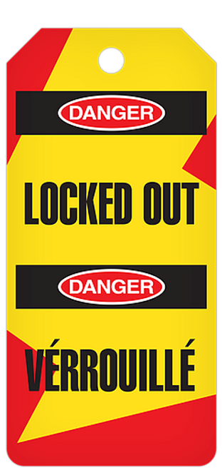 Danger Locked Out / Verrouille Tag Roll
