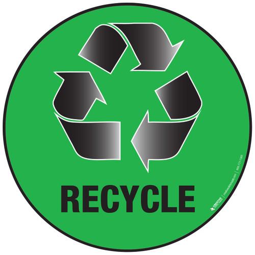 Recycle Green Floor Sign
