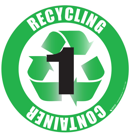 Recycling Container 1 Floor Sign