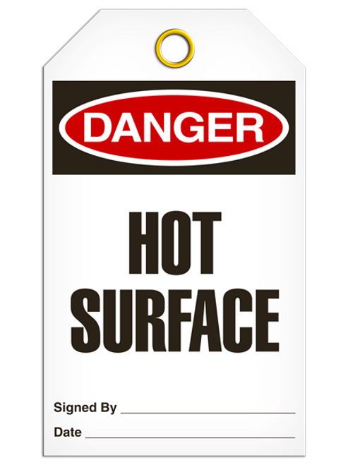 Danger Hot Surface Tags