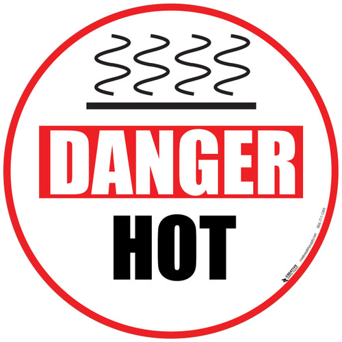 Danger Hot area floor sign
