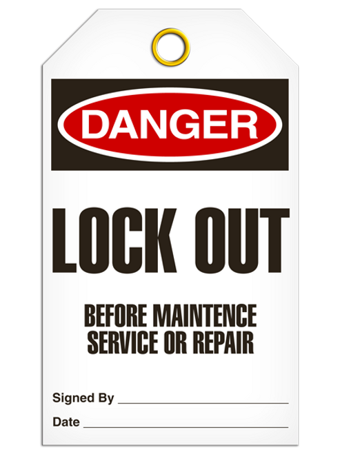 Danger Lock Out BeforeTags