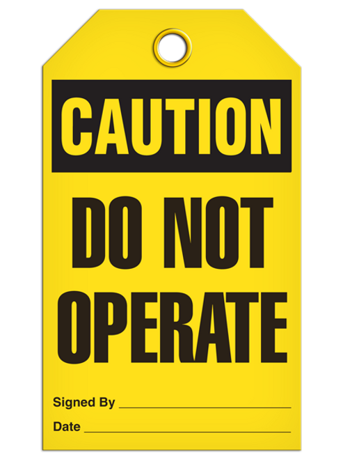 Caution Do Not Operate Tags