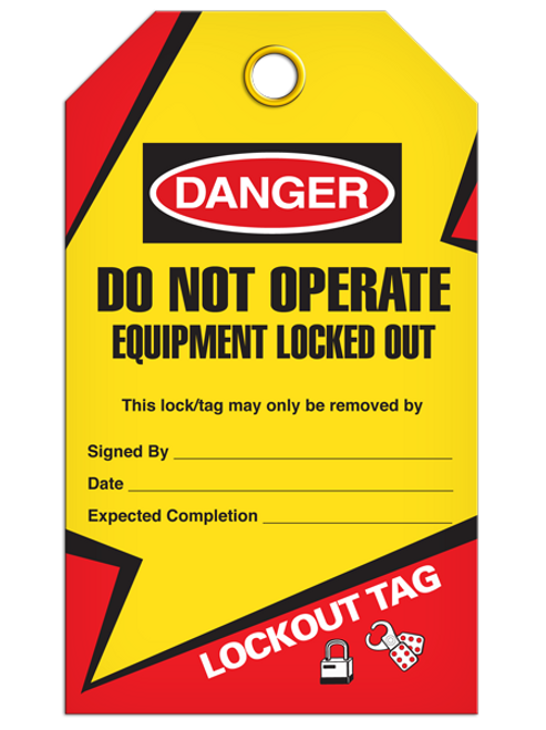 Lockout Equip Locked Tags