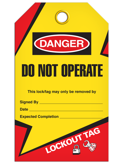 Lockout Do Not Operate Tags