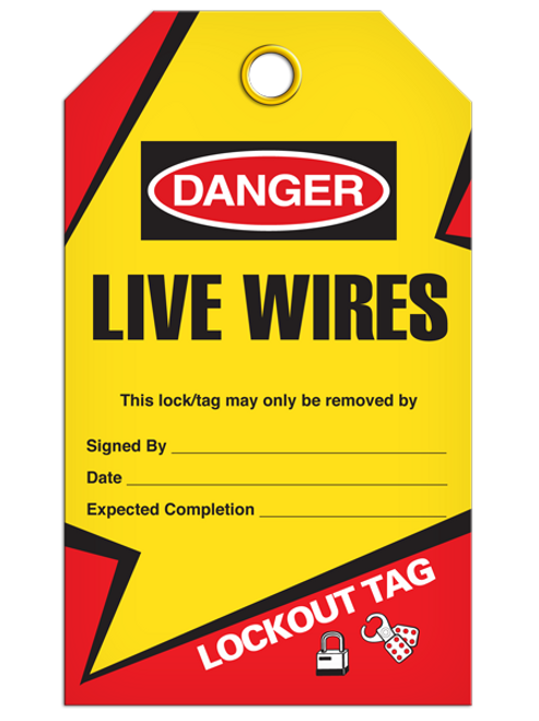 Lockout Live Wires Tags