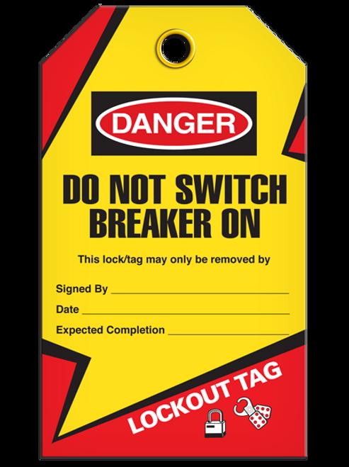 Lockout Breaker On Tags