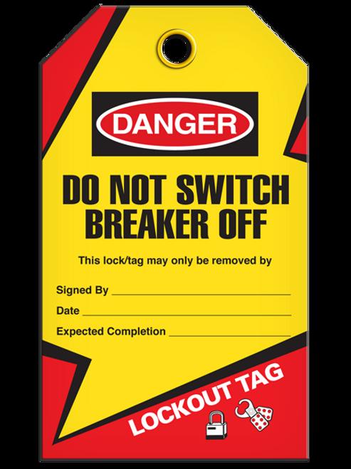 Lockout Breaker Off Tags