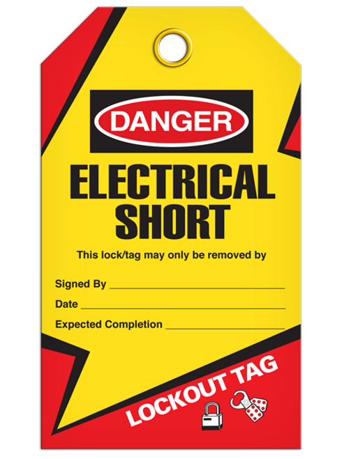 Lockout Electrical Short Tags