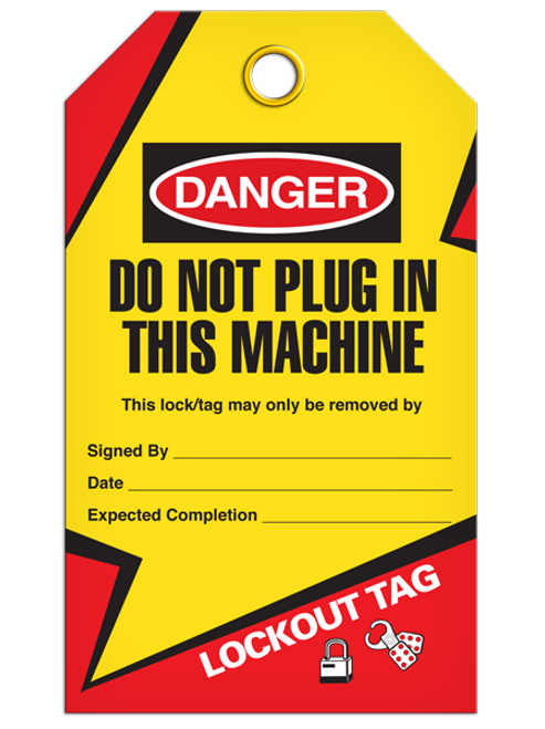 Lockout Do Not Plug Tags