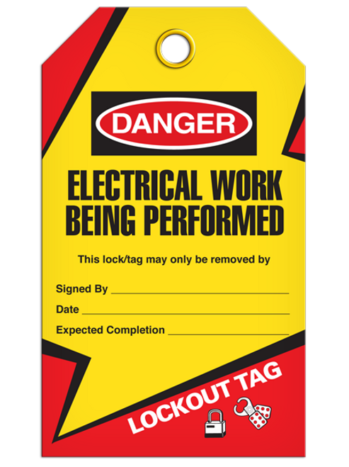Lockout Electrical Work Being Performed Tags