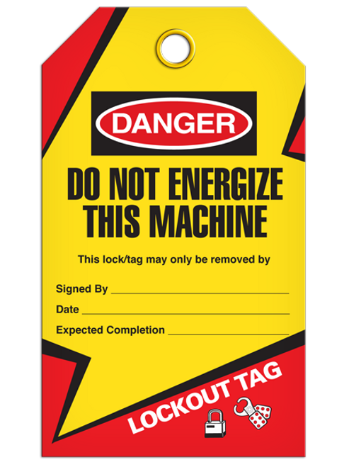 Lockout Not Energize Tags