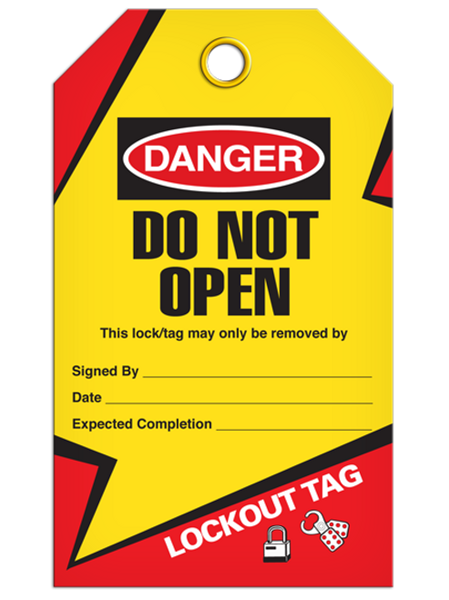 Lockout Do Not Open Tags