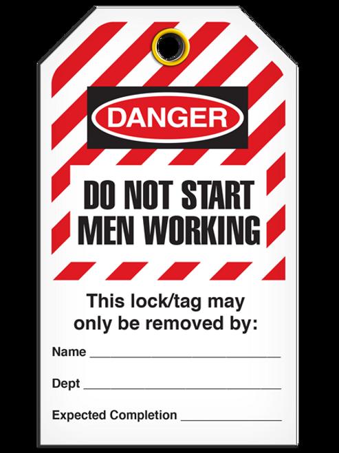 Lockout Dns Men Working StripedTags
