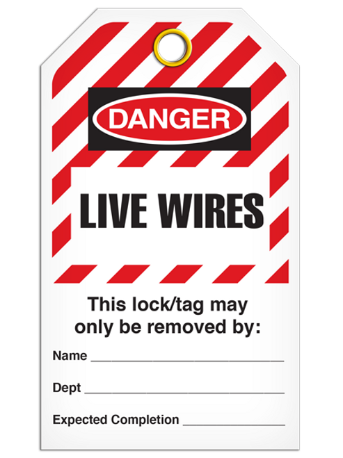 Lockout Live Wires StripedTags