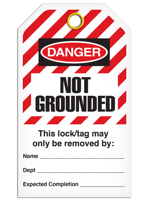 Lockout Not Grounded StripedTags