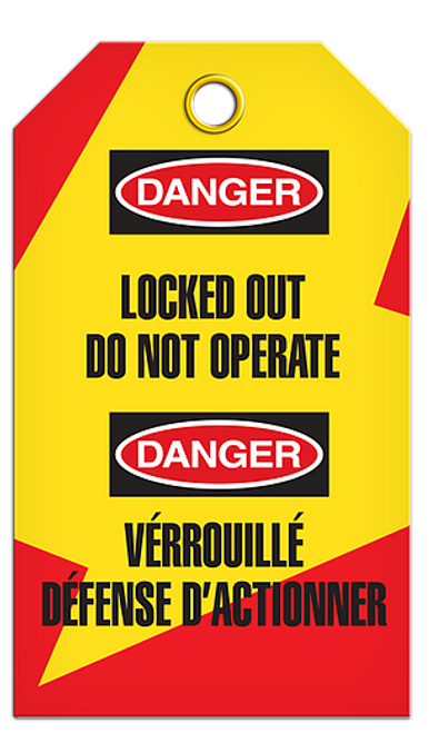 Lockout English/French Operate Tags