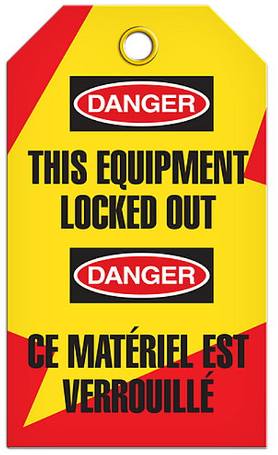 Lockout English/French Equipment Tags
