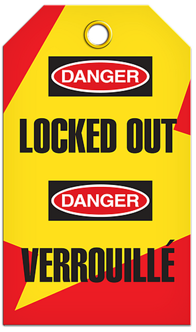 Lockout English/French Locked Tags