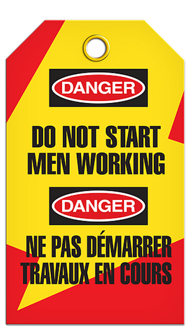 Lockout English/French Men Work Tags
