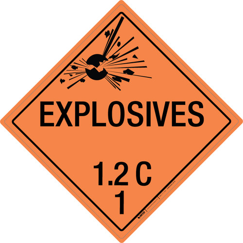 Explosive: Class 1.2 - C - Wall Sign