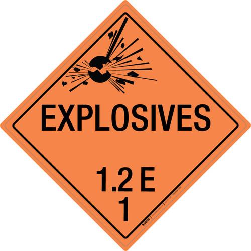 Explosive: Class 1.2 - E - Wall Sign