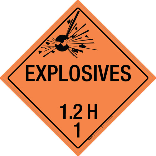 Explosive: Class 1.2 - H - Wall Sign